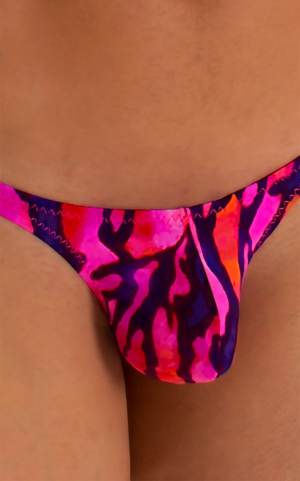 Stuffit Pouch Thong in Beach Tiger Pink 3