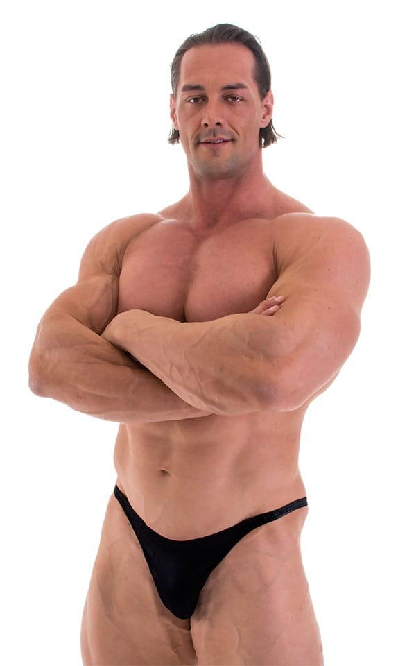 Bodybuilder Posing Suit - Narrow Back in Black 1