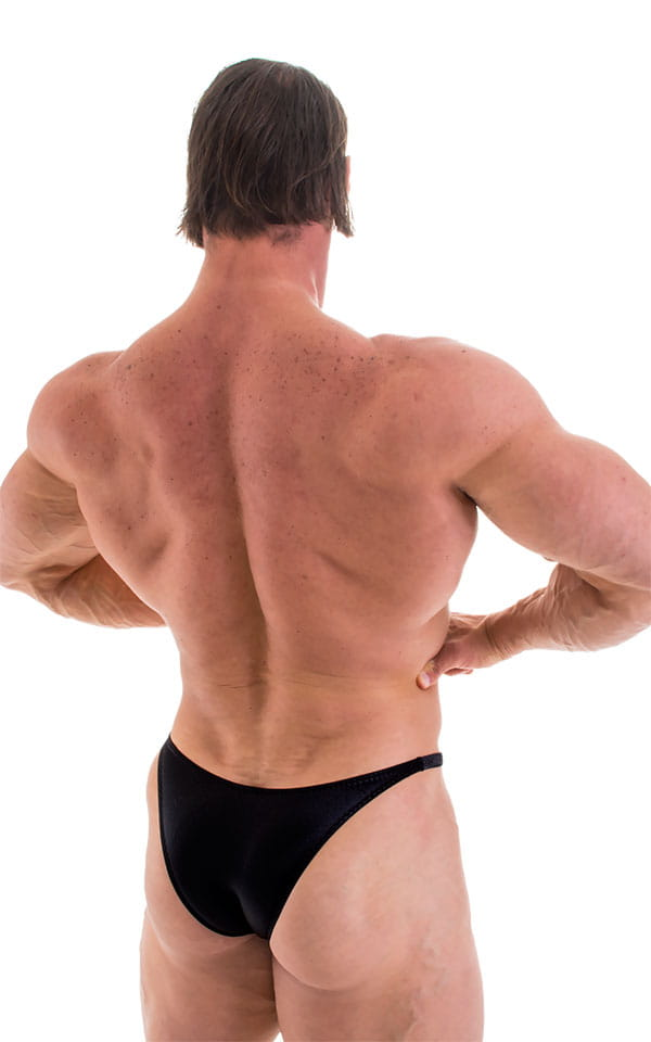 Bodybuilder Posing Suit - Narrow Back in Black 3