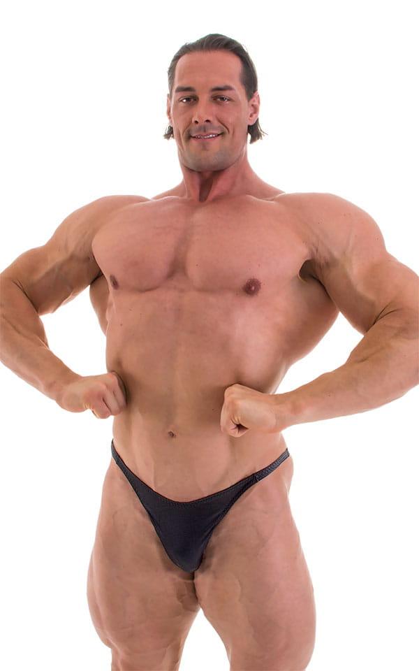 Bodybuilder Posing Suit - Narrow Back in Wet Look Black 5