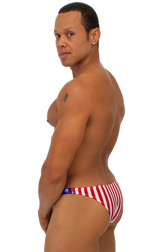 Exotic Dancer - Pouch Enhanced - Pistol Bikini in Stars and Stripes 3