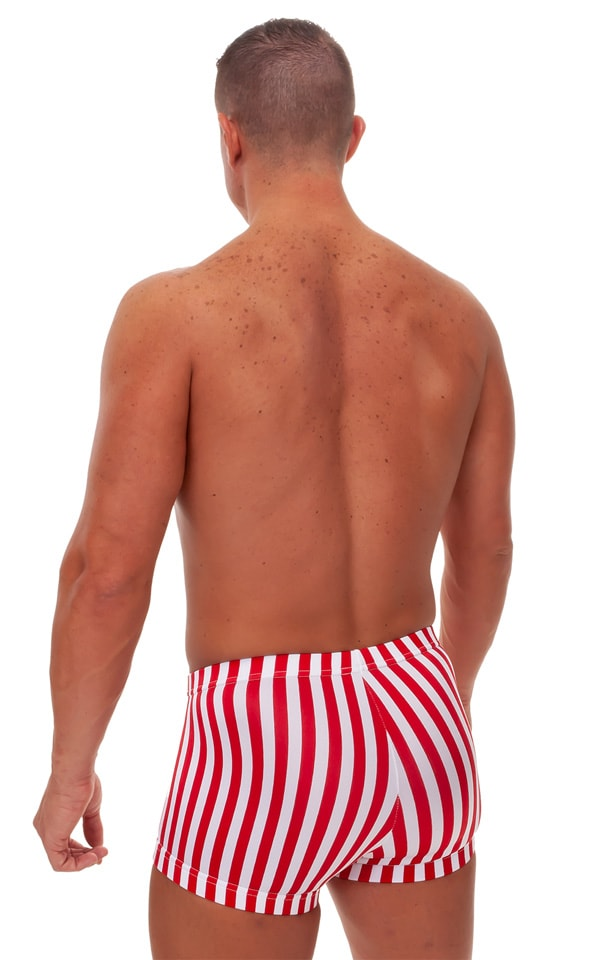Fitted Pouch - Square Cut - Watersports Swim Trunks in Stars & Stripes 3