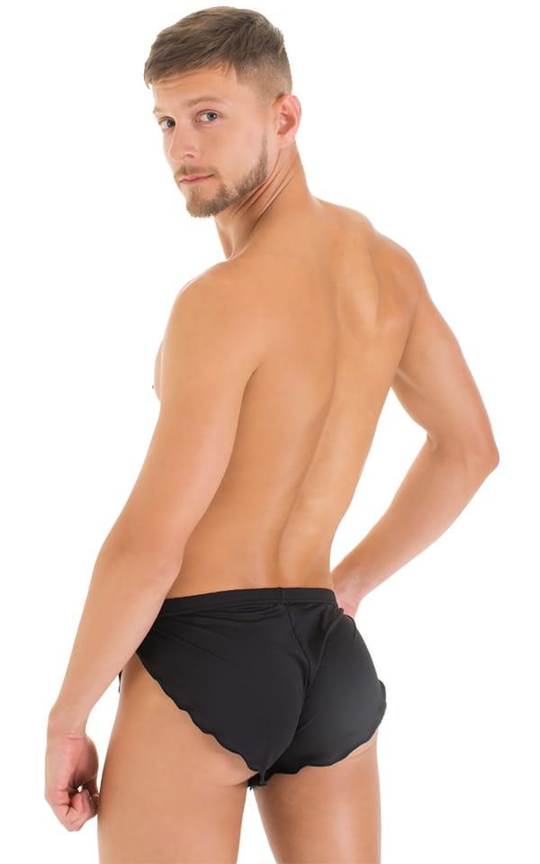 Swimsuit Cover Up Split Running Shorts in Super ThinSKINZ Black 3