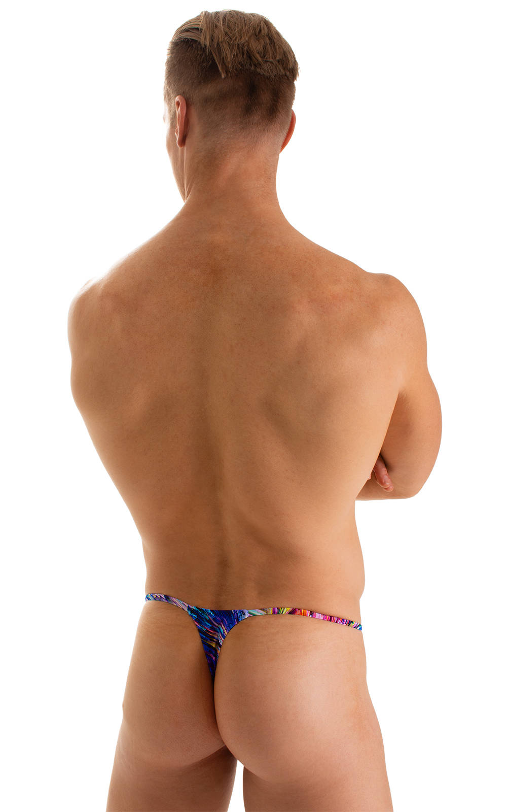 Smooth Pouch Skinny Sides Swim Thong in Illumine 2