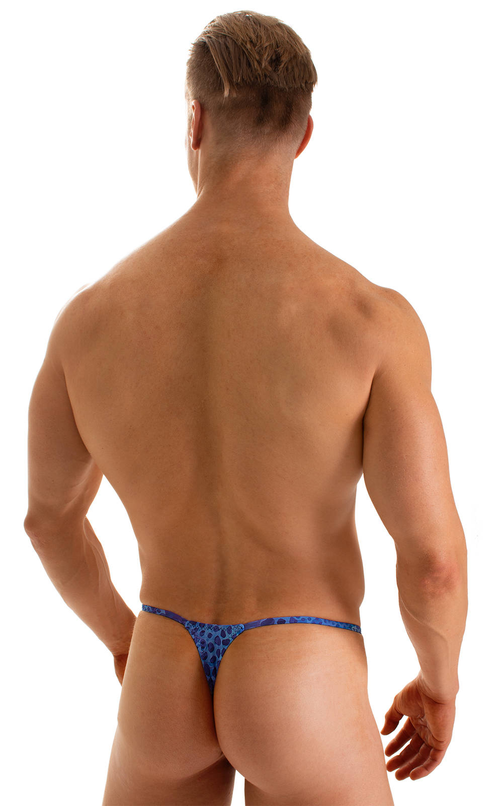 Smooth Pouch Skinny Sides Swim Thong in Super ThinSKINZ Deep Sea 2