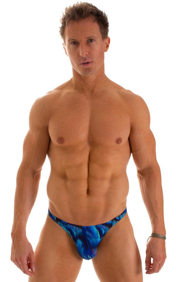 Fitted Bikini Bathing Suit in Digital Rush Blue 1