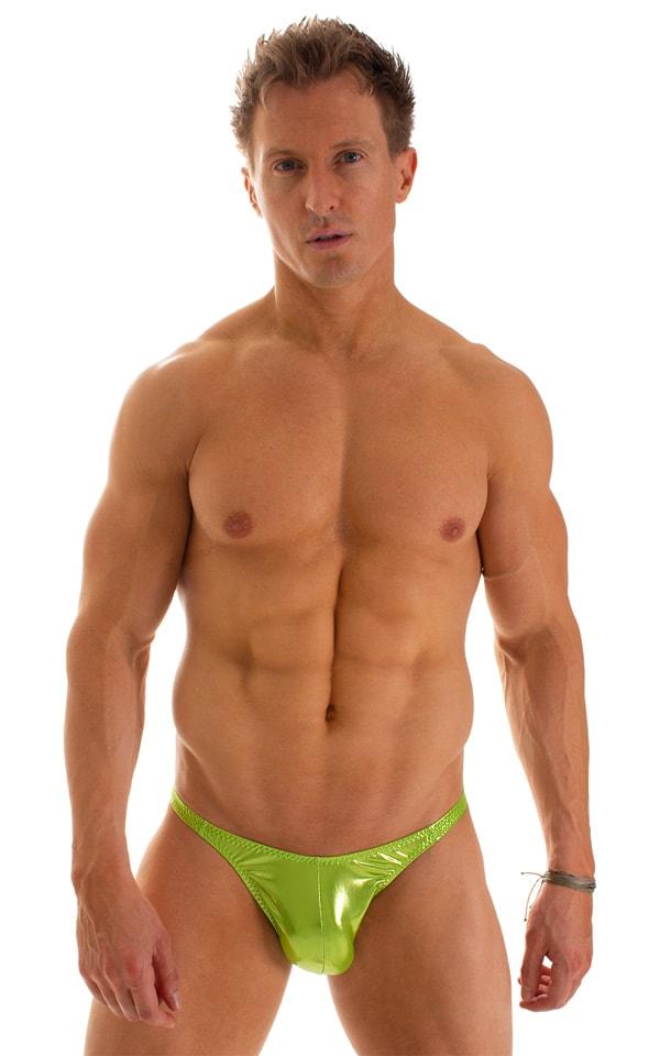 Fitted Bikini Bathing Suit in Ice Karma Lemon-Line 1