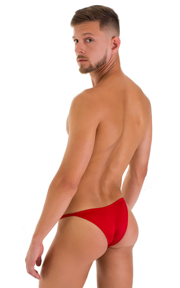 Stuffit Pouch Half Back Tanning Swimsuit in Red 3