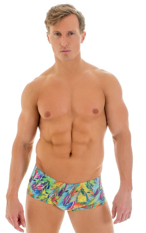 3fb3dd3c1b Extreme Low Square Cut Swim Trunks in Super ThinSKINZ Quill ...