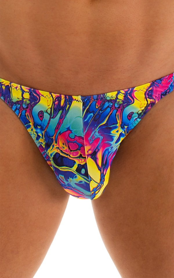 Fitted Bikini Bathing Suit in Mind Vision Rainbow 3