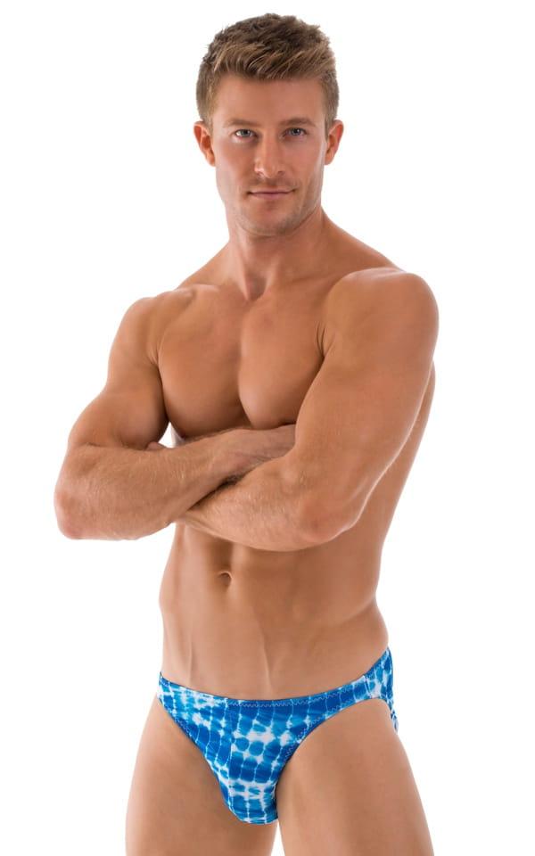 Bikini-Brief Swimsuit in Turquoise Serpent 1