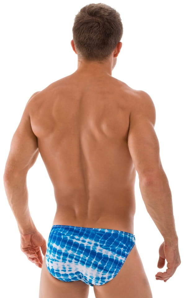 Bikini-Brief Swimsuit in Turquoise Serpent 3