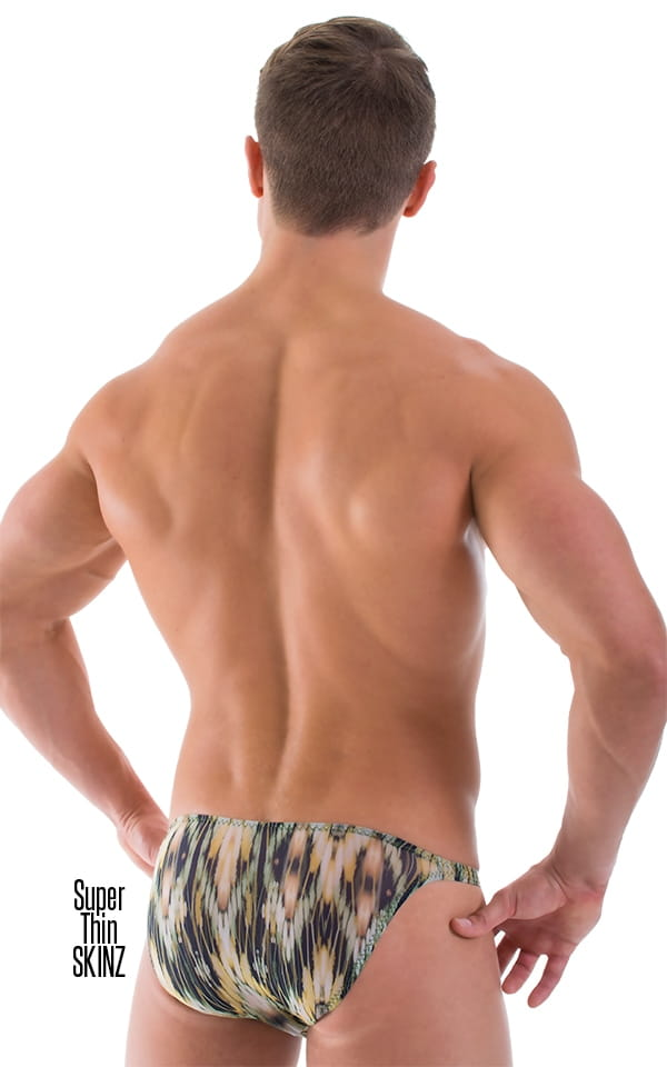 mens see-thru biknii swimsuits rear