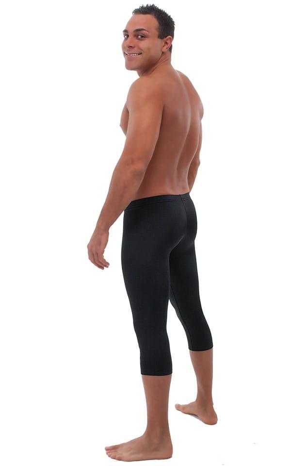 SUPER Low Capri Leggings in Black Cotton Lycra 3