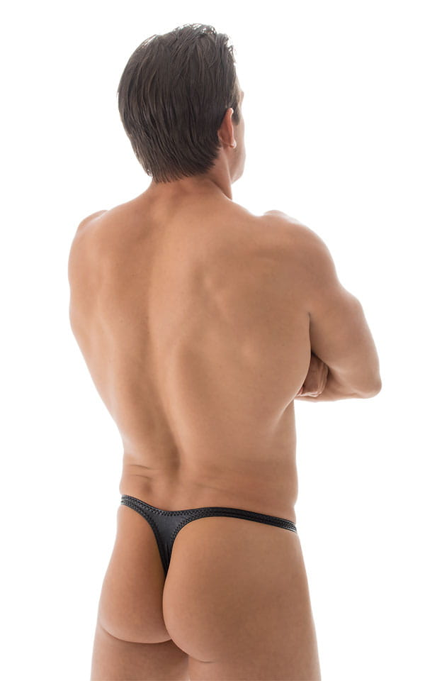 Mens Banded Swim Thong Comfort Enhanced Pouch Adjustable