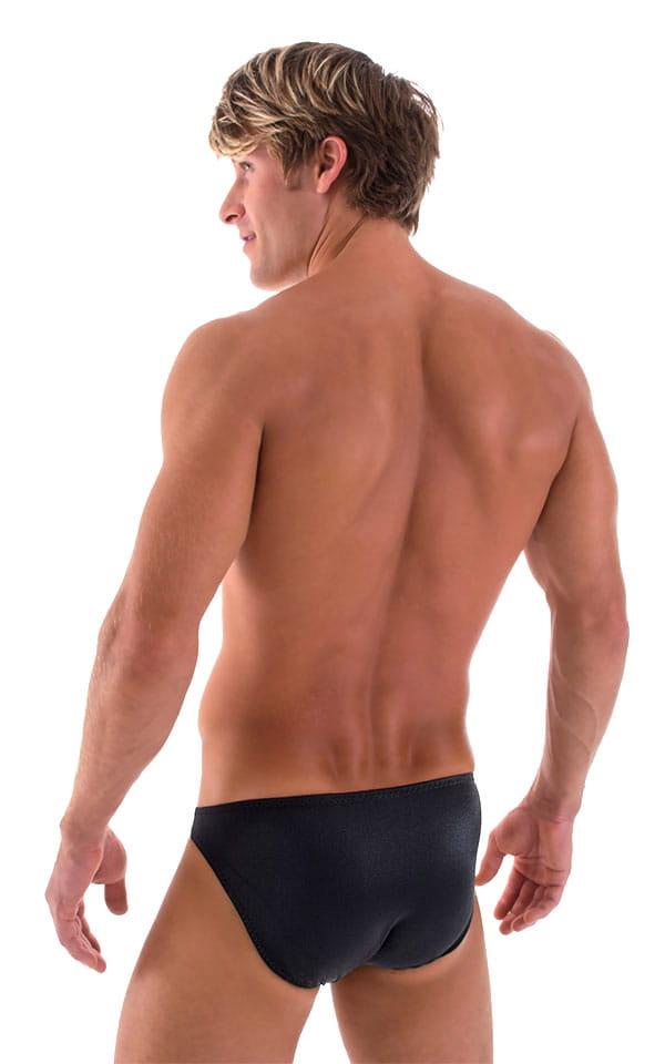 Bikini-Brief Swimsuit in Wet Look Black 5
