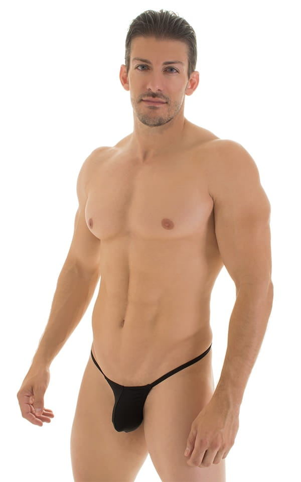 Stuffit Pouch G String Swimsuit in Super ThinSKINZ Black 4