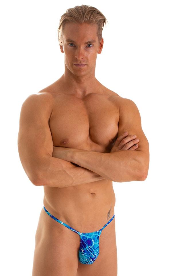 Roman G String Swim Thong in New World Blue 1