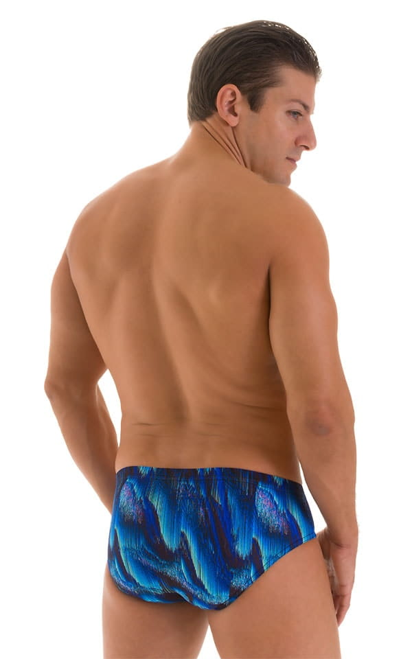 Pouch Brief Swimsuit in Digital Rush Blue 3
