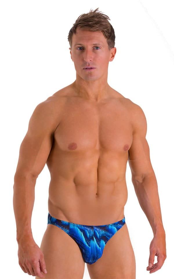 Bikini Brief Swimsuit in Digital Rush Blue 1