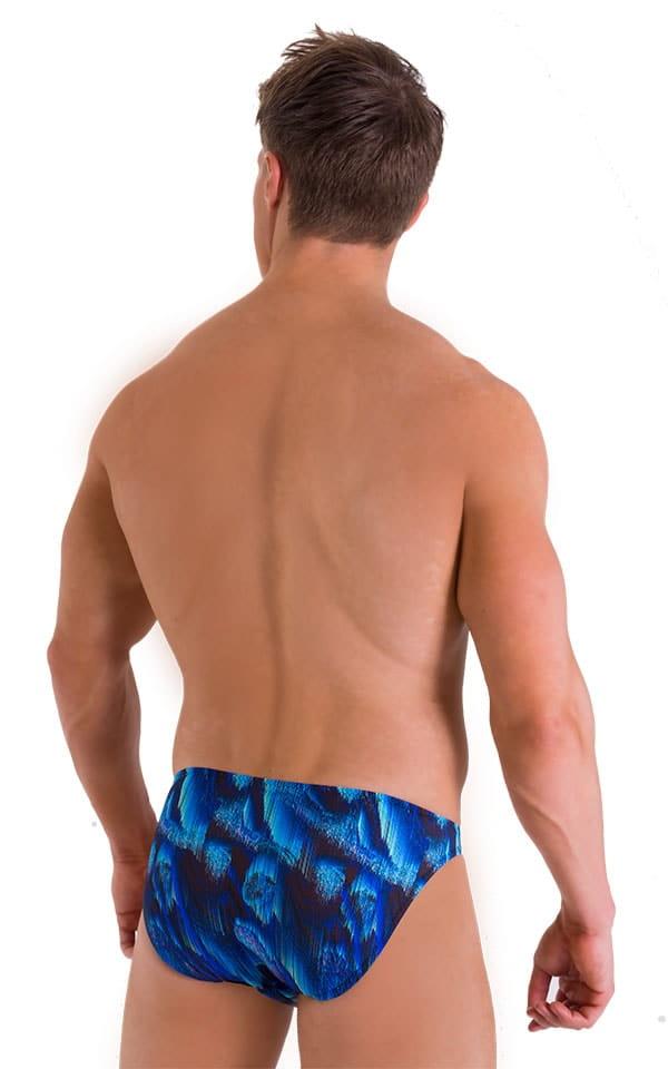 Bikini Brief Swimsuit in Digital Rush Blue 3