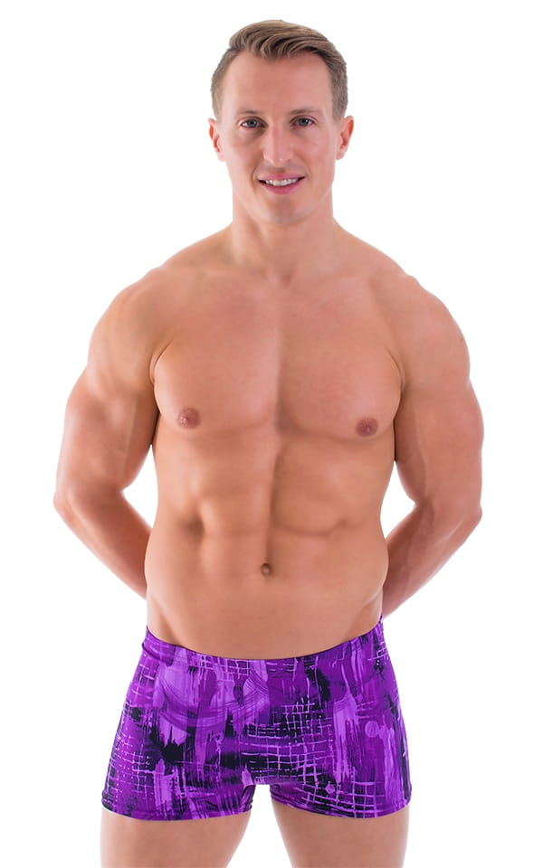 0aa7fdd1802 Square Cut Seamless Swim Trunks in Dance Ribbons by Skinz