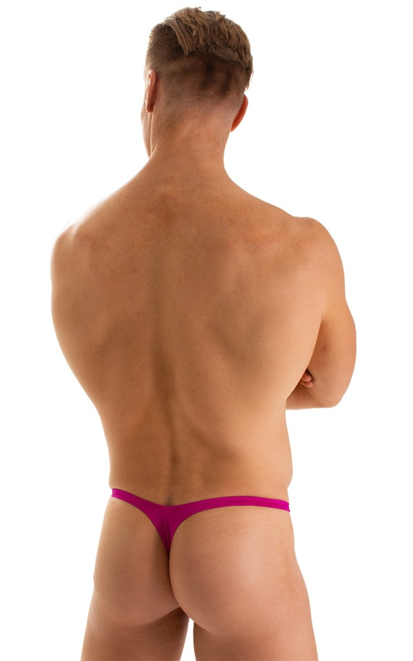 T Back Thong Swimsuit in Magenta 2