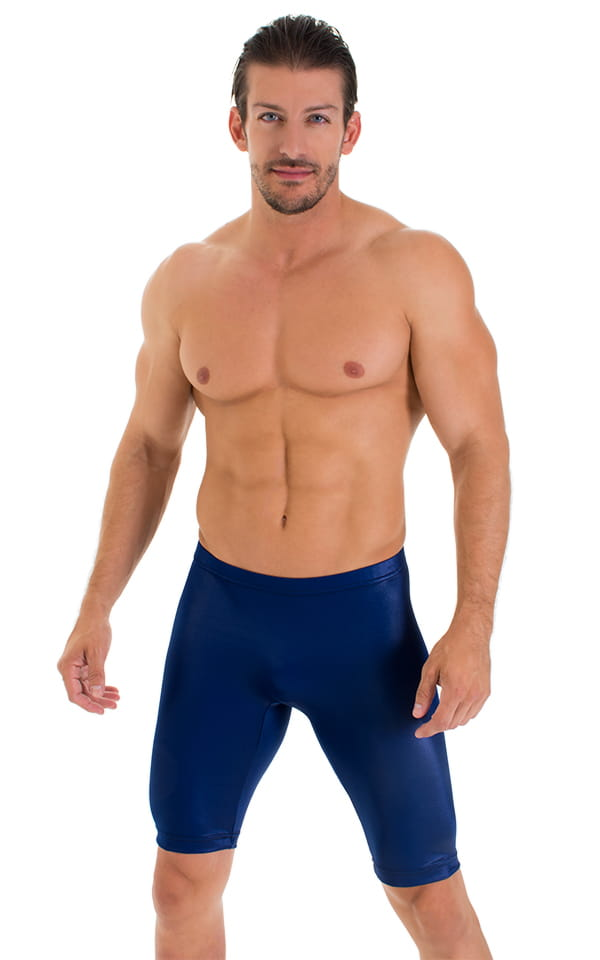 Mens Navy Blue compression shorts
