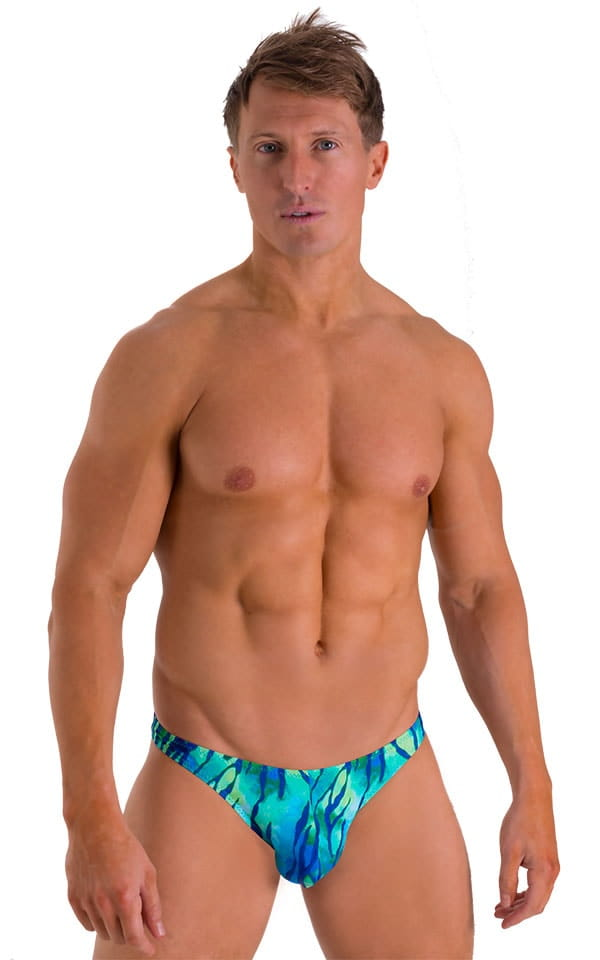 Enhancing Pouch Swim Brief in Beach Tiger Blue 1