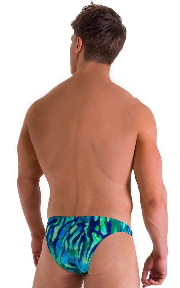 Enhancing Pouch Swim Brief in Beach Tiger Blue 3