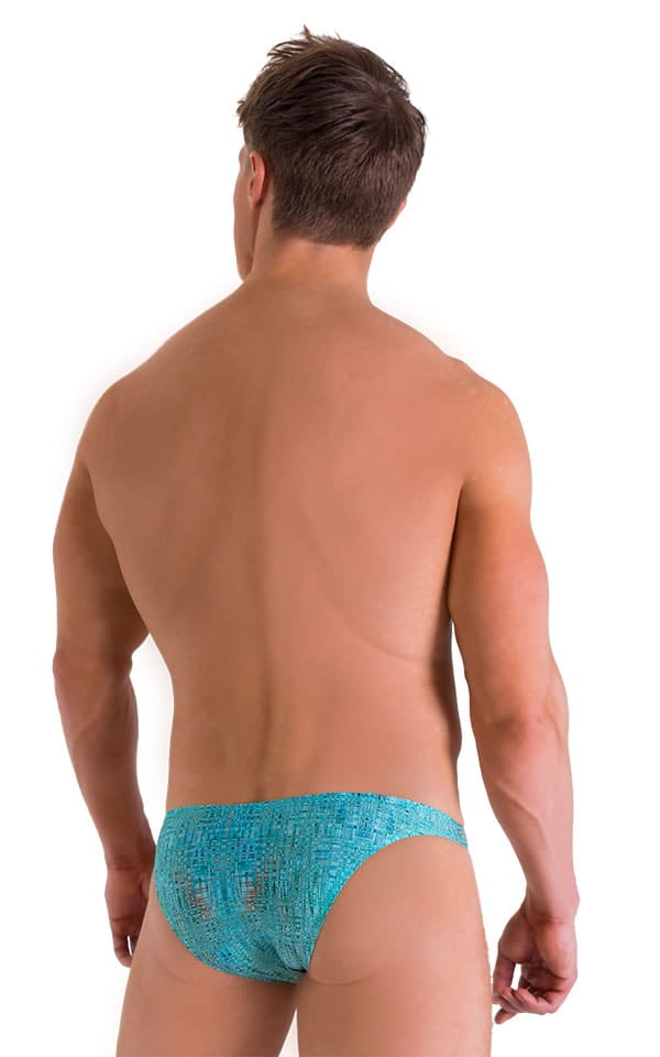 Enhancing Pouch Swim Brief in Super ThinSKINZ Seafoam Circuits 3