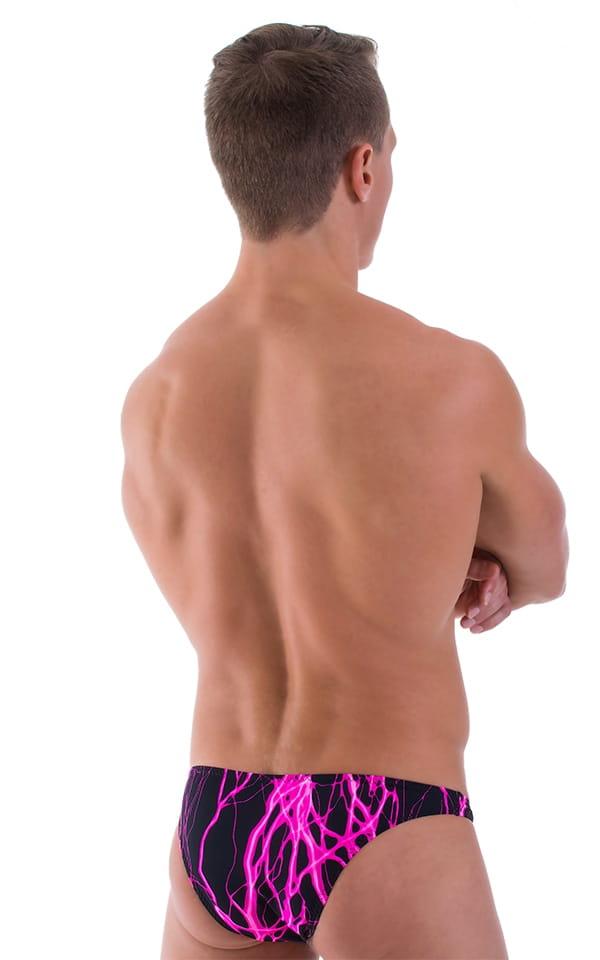 Large Pouch Swimsuit Bikini in Pink Lightning 3