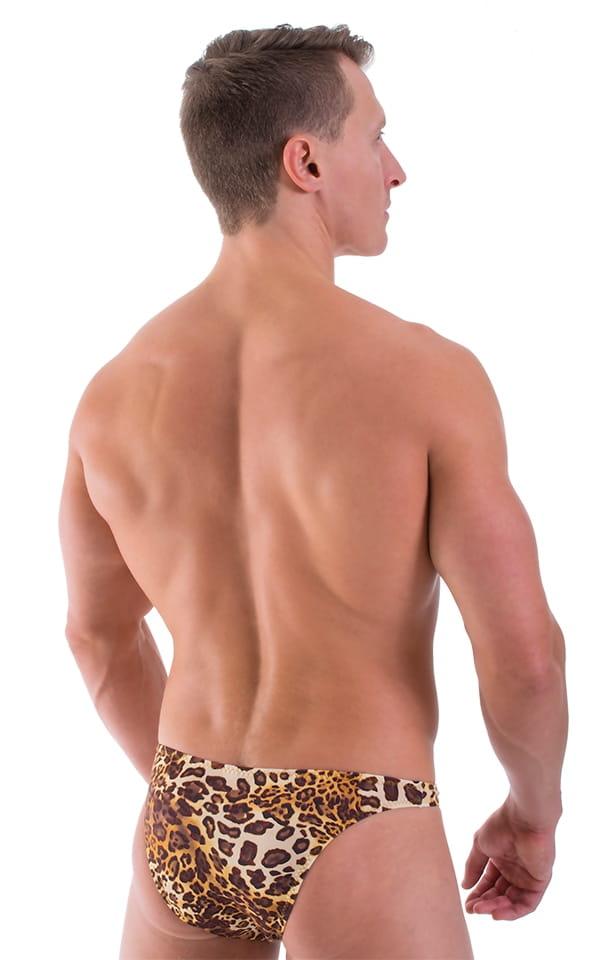 Large Pouch Swimsuit Bikini in Tarzan Leopard 3