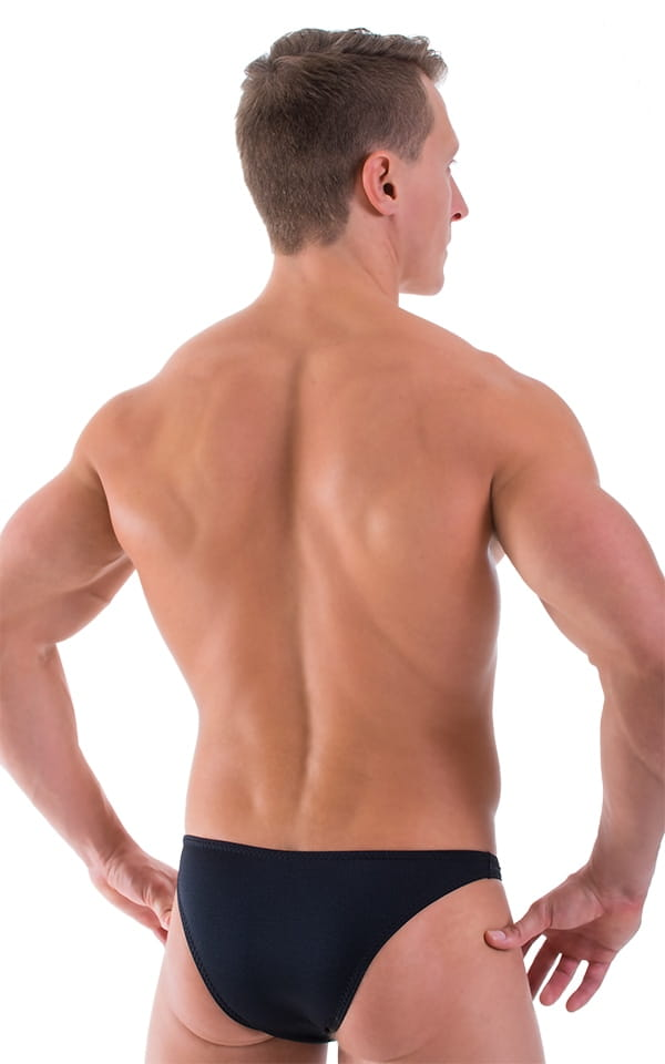 Comfort Pouch - Bulge Enhancing - Half Back Bikini in Black 3