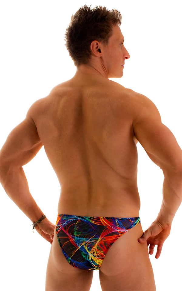 Enhancing Pouch Swim Brief in Tan Through Rave-Up 2