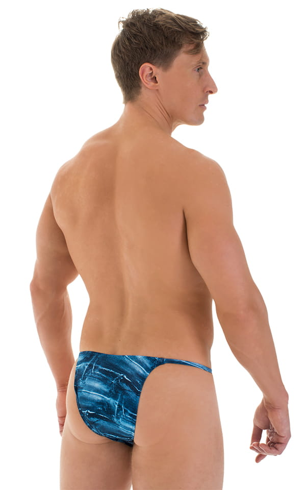 Sunseeker2 Tanning Swimsuit in Super ThinSKINZ Denim Patches 3