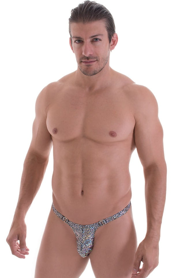 Quick Release Thong - Bravura Pouch in Holographic Diamonds 1