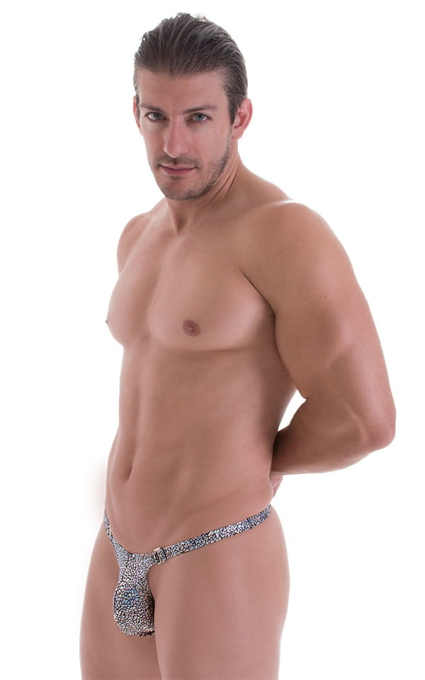 Quick Release Thong - Bravura Pouch in Holographic Diamonds 5