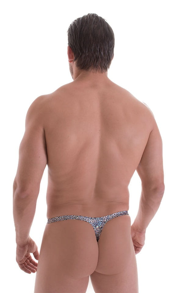 Quick Release Thong - Bravura Pouch in Holographic Diamonds 3