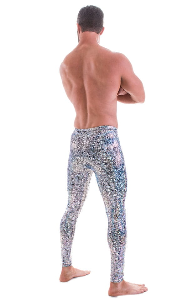 Mens Leggings Tights in Holographic Diamonds 3