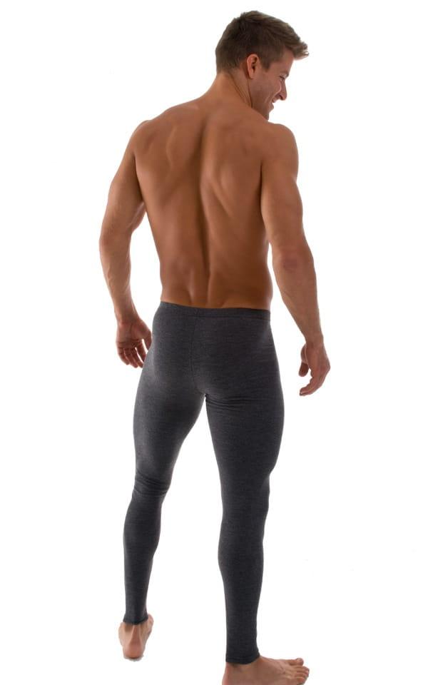 Mens Leggings Tights in Dark Heather Grey Cotton-Spandex 10oz 3