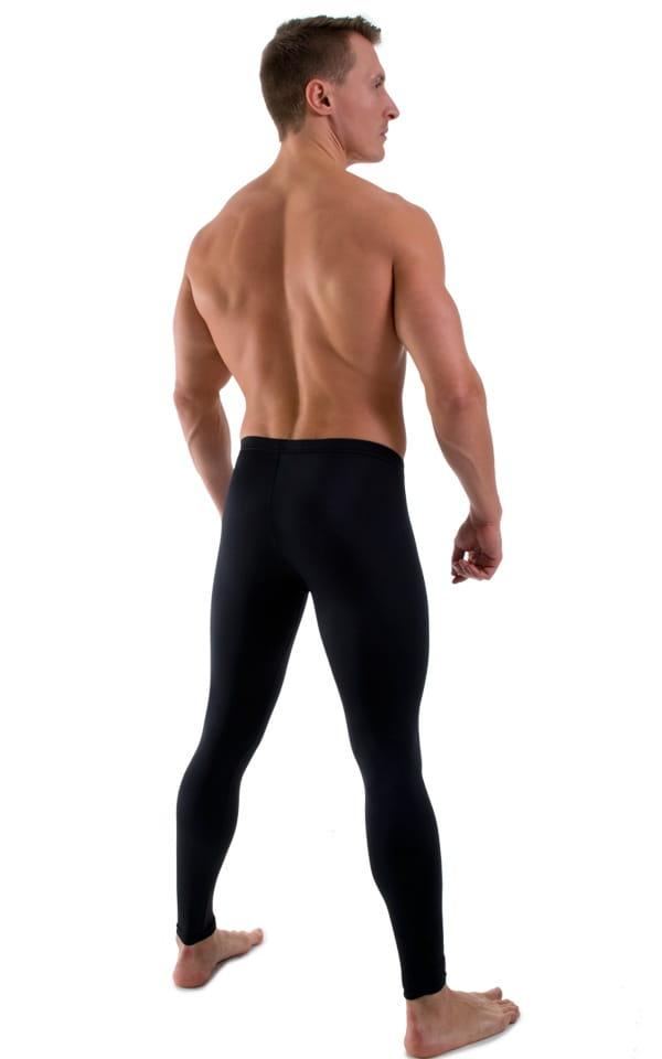 Mens Low Rise Leggings Tights in Black 3