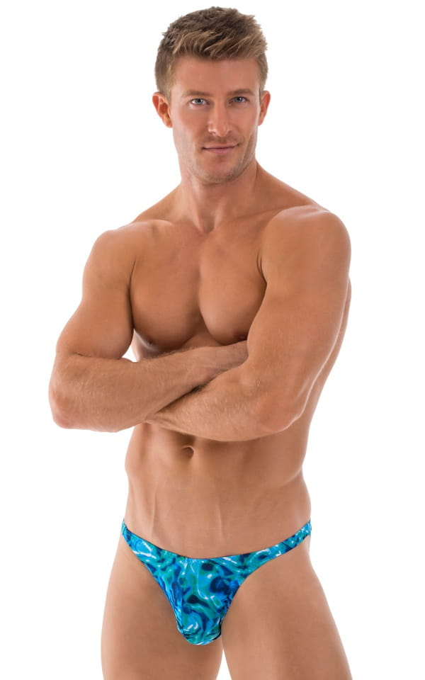 Fitted Bikini Bathing Suit in Liquid Bahamas 1