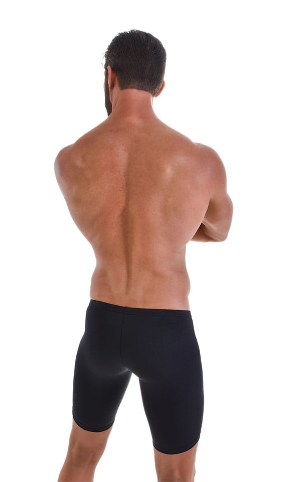 Fitted Pouch Lycra Shorts in Black 3