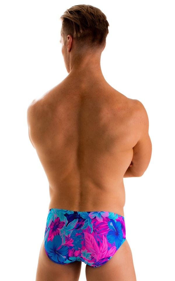 Pouch Brief Swimsuit in Tahitian Magenta-Aqua 2