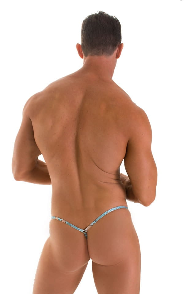 mens g string snakeskin back