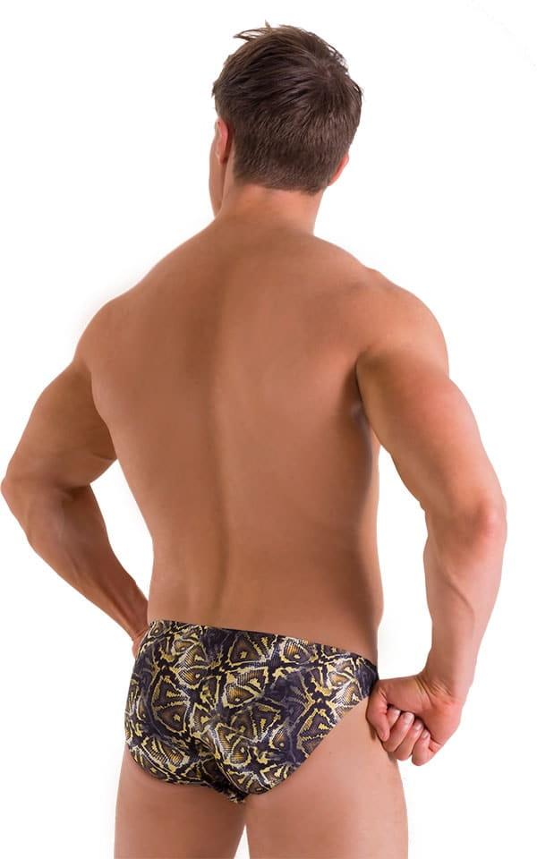 Bikini Brief Swimsuit in Super ThinSKINZ Coiled Python 3