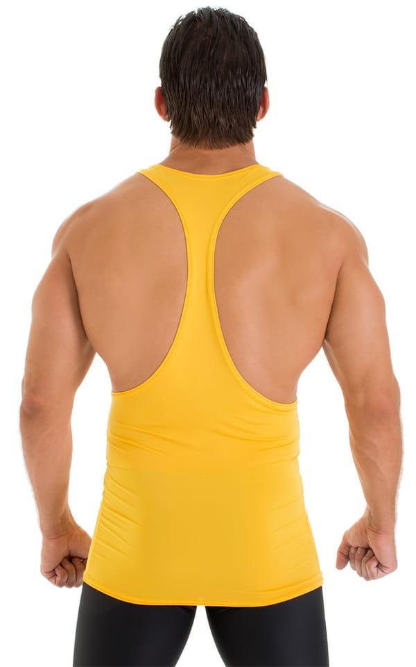 String Tank Gym Tee in ThinSKINZ Sunset Yellow 3