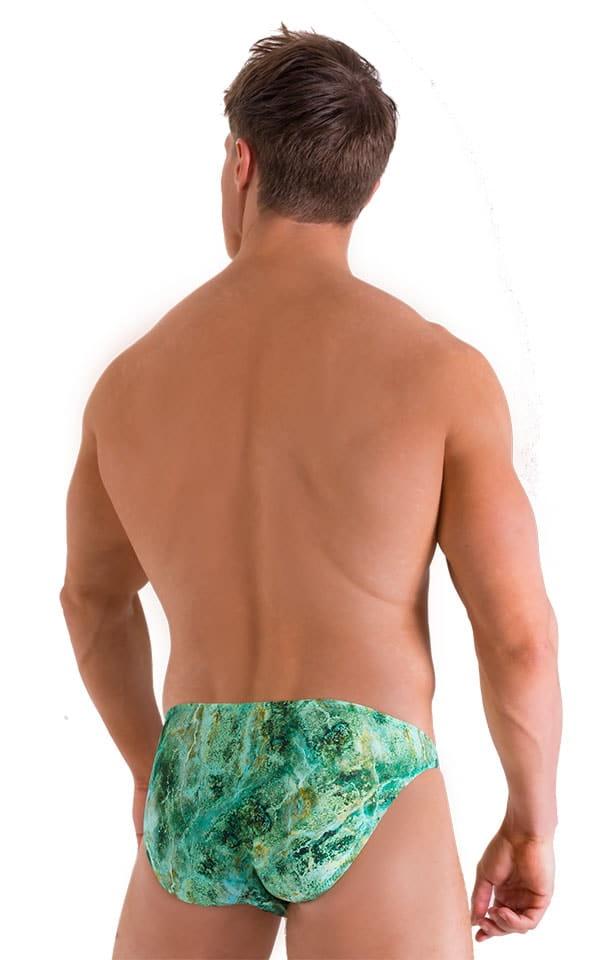 Bikini Brief Swimsuit in Jade Marble 3