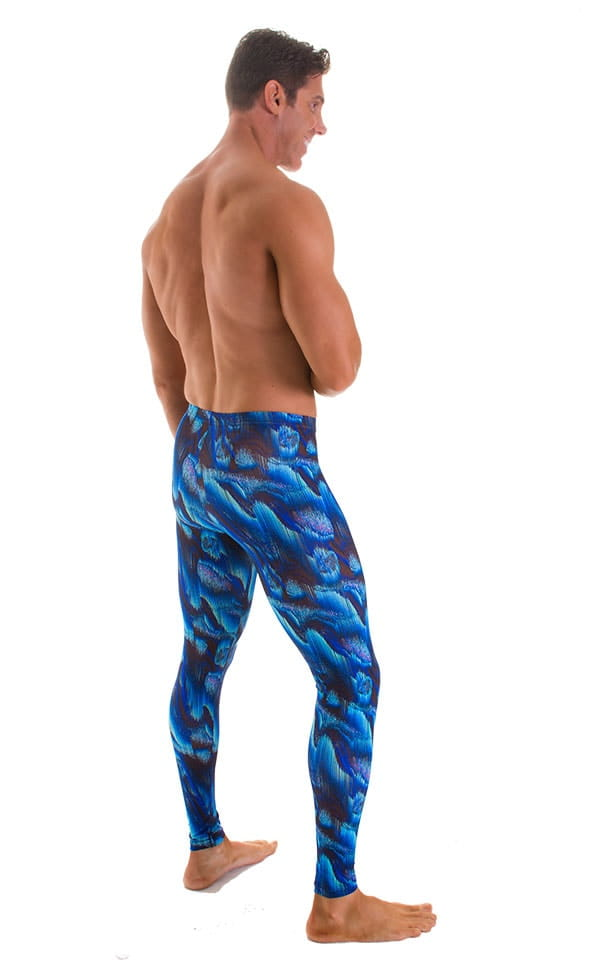Mens Leggings Tights in Digital Rush Blue 2